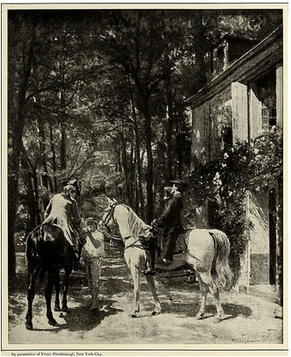 horse and men, vintage